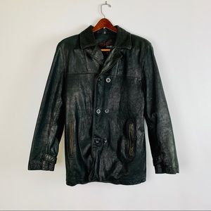 Rogue Leather Jacket M Black Reilly Olmes Button